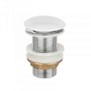 Донный клапан без перелива Invena SC-B1-BBP белый глянец