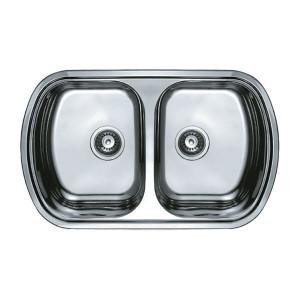 Мойка кухонная Haiba 80x49 DOUBLE decor HB0572