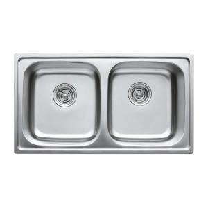 Мойка кухонная Haiba 78x43 DOUBLE satin HB0569