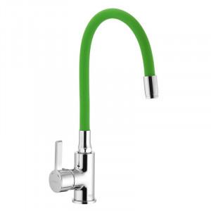 Смеситель для кухни с гибким силиконовым изливом Ibergrif M22112-5 IB0071
