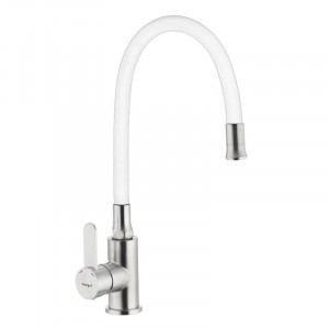 Смеситель для кухни с гибким силиконовым изливом Ibergrif M22119-3 IB0064