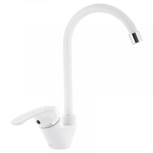 Змішувач на кухню PLAMIX AFINA-011 білий (без підводки) (PM0578)