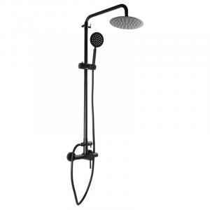 Душевая колонна со смесителем для душ. кабины MIXXUS SUS-003-J черный (из нерж. стали) (MI2807)