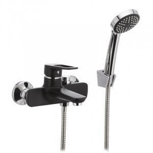 Смеситель для ванны Mixxus NEVADA 009 перекл. кнопкой черный MX0018