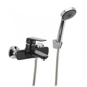 Смеситель для ванны Mixxus OREGON 009 перекл. кнопкой черный MX0008