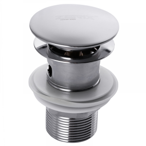 Донный клапан с переливом (кнопка) Zerix LR65-2 (ZX2638)