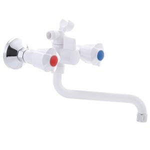 Змішувач для ванни PLAMIX AMA-142 білий (без шланга і лійки) (PM0584)