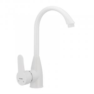 Смеситель пластиковый для кухни Plamix Mario-011W белый без подводки PM0014