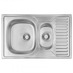 Кухонная мойка из нержавеющей стали ULA HB 7301 ZS DECOR