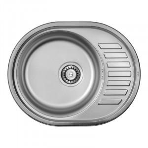 Кухонная мойка из нержавеющей стали ULA HB 7112 ZS POLISH