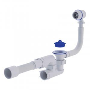 """Сифон ANI Plast C6255 для ванни з ревізією, з пластиковим переливом і випуском 1 1/2"""", вихід 50 мм"""