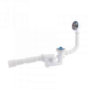 Сифон ANI Plast E255-E256 для ванни регульований з випуском 1 1/2  х40, з переливом, з трубою 40/50