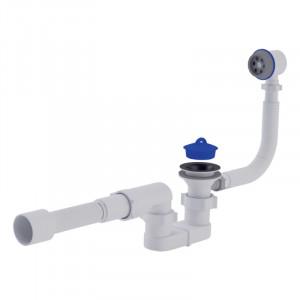 """Сифон ANI Plast E055-Е056 для ванни, з випуском і переливом 1 1/2 """" вихід 50 мм"""