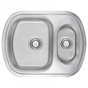 Кухонная мойка из нержавеющей стали Ula 7703-ZS-Satin