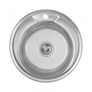 Кухонная мойка из нержавеющей стали Imperial 490-А (0,6мм) Decor 160 mm