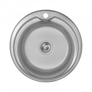 Кухонная мойка из нержавеющей стали Imperial 510-D (0,6мм) Decor 160 mm
