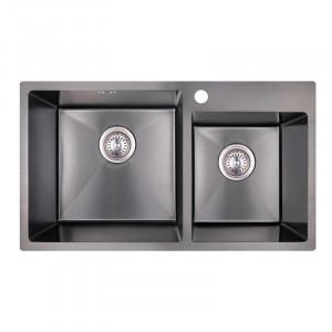 Кухонна мийка з нержавіючої сталі Imperial S7843BL PVD black Handmade 2.7/1.0 mm