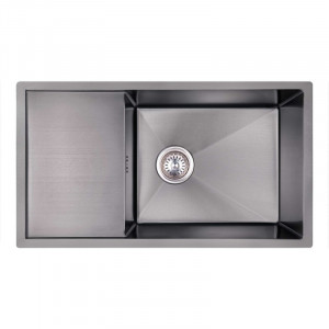 Кухонна мийка з нержавіючої сталі Imperial D7844BL PVD black Handmade 3.0/1.2 mm