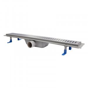Трап линейный Q-tap Dry FA304-700 с нержавеющей решеткой 700х73