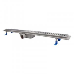 Трап линейный Q-tap Dry FA304-900 с нержавеющей решеткой 900х73