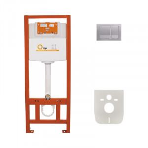 Инсталляция для унитаза Q-tap Nest M425 ST комплект 4 в 1 с клавишей PL M06SAT