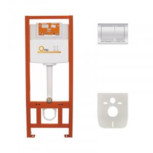 Инсталляция для унитаза Q-tap Nest M425 ST комплект 4 в 1 с клавишей PL M06CRM