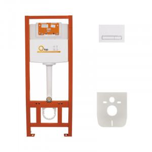 Инсталляция для унитаза Q-tap Nest M425 ST комплект 4 в 1 с клавишей PL M08WHI