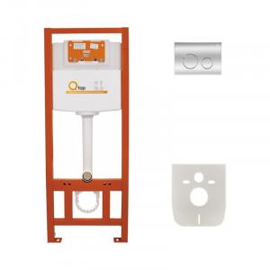 Инсталляция для унитаза Q-tap Nest M425 ST комплект 4 в 1 с клавишей PL M11CRM