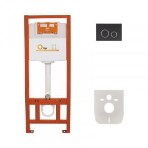 Инсталляция для унитаза Q-tap Nest M425 ST комплект 4 в 1 с клавишей PL M11MBLA