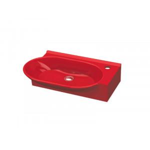 Раковина Idevit Myra 55 см с отверстием справа 0201-2505-08, красная