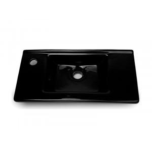 Раковина Idevit Merkur 50 см с отверстием слева, черная 0201-3507-07