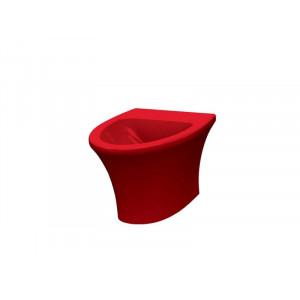 Биде подвесное Idevit Rena 2906-0105-08, красное