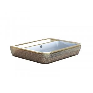 Раковина Idevit Halley 60 см 3201-0455-1101, золотая