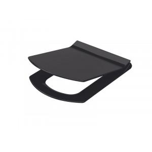 Крышка для унитаза Idevit Vega, Soft-Close Slim черная 53-02-06-004
