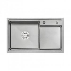 Кухонная мойка Qtap D7848-L Satin 3.0/1.2 мм (QTD78483012)