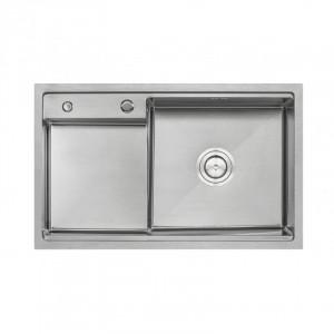 Кухонная мойка Qtap D7848-R Satin 3.0/1.2 мм (QTD78483012)