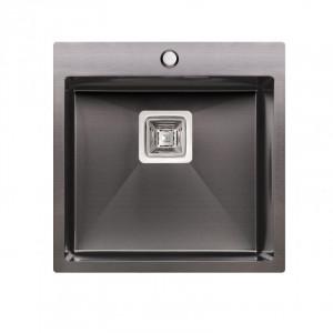 Кухонная мойка Qtap DK5050BL Black 2.7/1.0 мм (QTDK5050BLPVD2710)