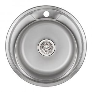 Кухонная мойка 490-A Satin (0,8 мм)