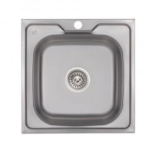 Кухонная мойка Lidz 5050 0,6 мм Decor (LIDZ5050DEC06)