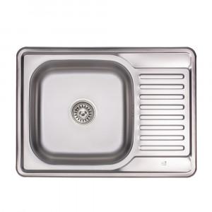 Кухонная мойка Lidz 6950 0,8 мм Micro Decor (LIDZ6950MDEC)