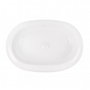 Раковина-чаша Qtap Robin 635x420x105 White с донным клапаном QT13113075W