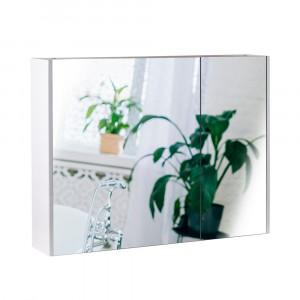 Зеркальный шкаф подвесной Qtap Scorpio 800х600х145 White QT1477ZP801W