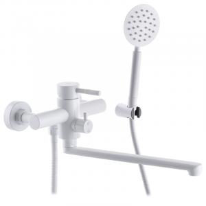 Смеситель для ванны Mixxus SUS-006 (EURO) WHITE из нерж.стали SUS304 (MI5756)