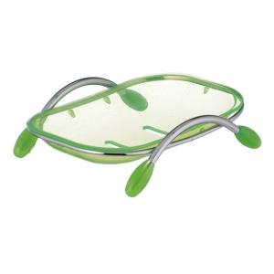 Мыльница настольная Zerix LR333 (пластик зеленый) (ZX2702)