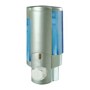 Дозатор для жидкого мыла настенный серый Zerix LR407 (ZX2718)