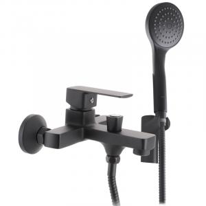 Смеситель для ванны Haiba KUBUS 009 EURO черный (HB3932)
