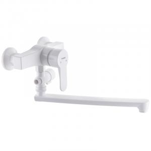 Смеситель для ванны PLAMIX Mario-006W Белый без шланга и лейки PM0603