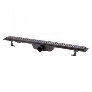 Трап линейный Q-tap Dry FF304-800MBLA с нержавеющей решеткой 800х73