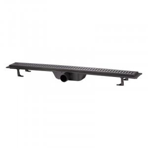 Трап линейный Q-tap Dry FF304-900MBLA с нержавеющей решеткой 900х73