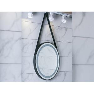 Зеркало Asignatura Unique 60 см LED черный матовый 85401802